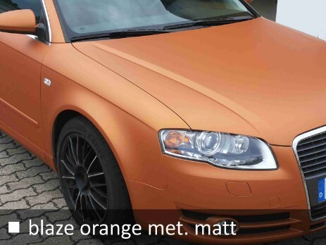 Carwrapping in orange metallic matt